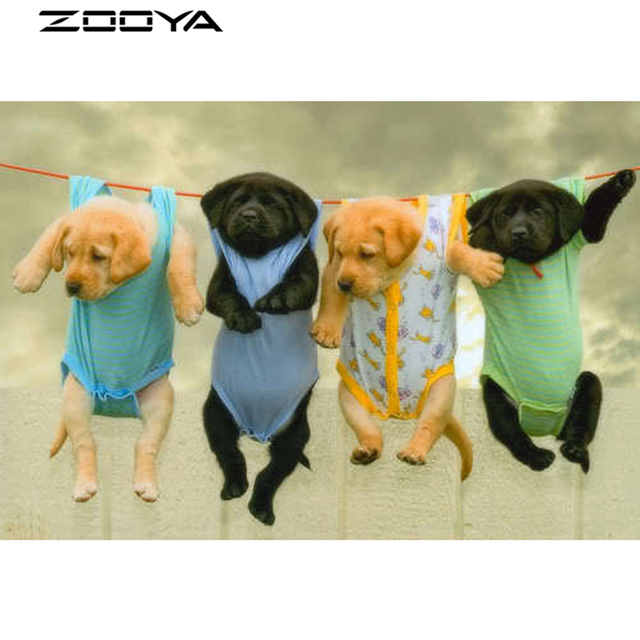 Zooya 3d Diy Diamond Embroidery Painting Halloween Animals Dog