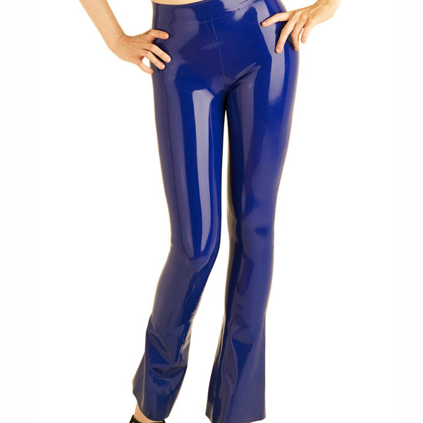 0.6MM Thickness Latex Rubber Jeans For Women Latex Long Pants