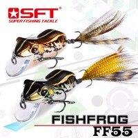 高級シリーズブランドsft 2016新しいタイプカエル釣りルアーfishfrog低音sneakheadクランクベイトシミュレーションカエルのルアー人工