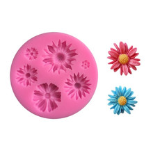 chrysanthemum Sunflower flower Candle Moulds handmade soap mold cake decorating tools DIY fondant cookies silicone mold