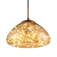 Светильники подвесные нестандартного дизайна современная светодиодная лампа гостиная Подвесная лампа Звездное стекло мяч обеденная спал