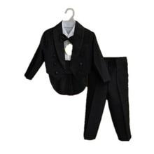 BBWOWLIN Baby Boy Kids 1 4year White Black Bow Tie Gentleman Modelling Romper Infant Sleeve Clothing