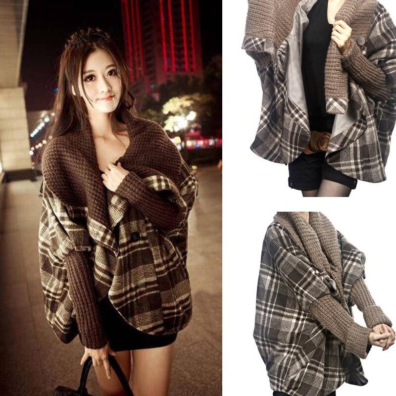 J60125 Large Lapel Cloak Women Woollen Coat