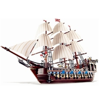 Lepin Pirate Ship Imperial Warships 1717 Pcs Compatible With Lego 10210 Pirates Of The Caribbean Models