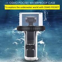 Ulanzi OP 10 wodoodporna obudowa dla DJI Osmo kieszeń 60M odporność na wodę Dive Case obudowa dla OSMO kieszeń przezroczysty Anti  fog