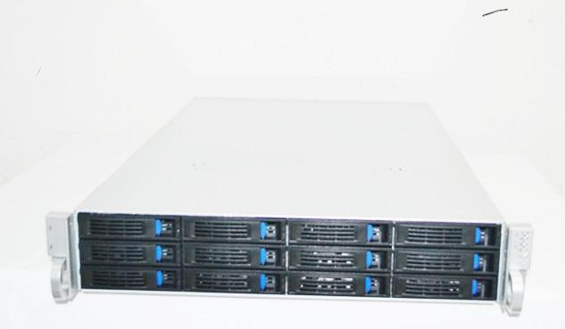 2U 12 hard disk bit hot swap storage server storage case monitor storage HD KTV storage case 5208 73p8005 73p8017 300g 10k fc ds4300 server hard disk one year warranty
