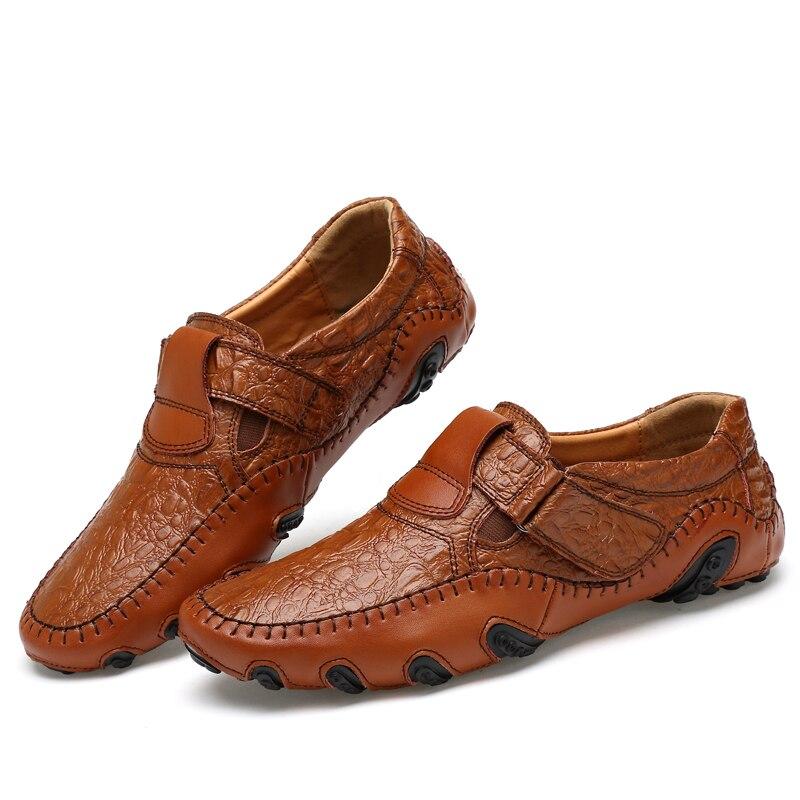 Marca de lujo de Los Hombres Zapatos de Cuero Genuino de Gran Tamaño de Los Homb