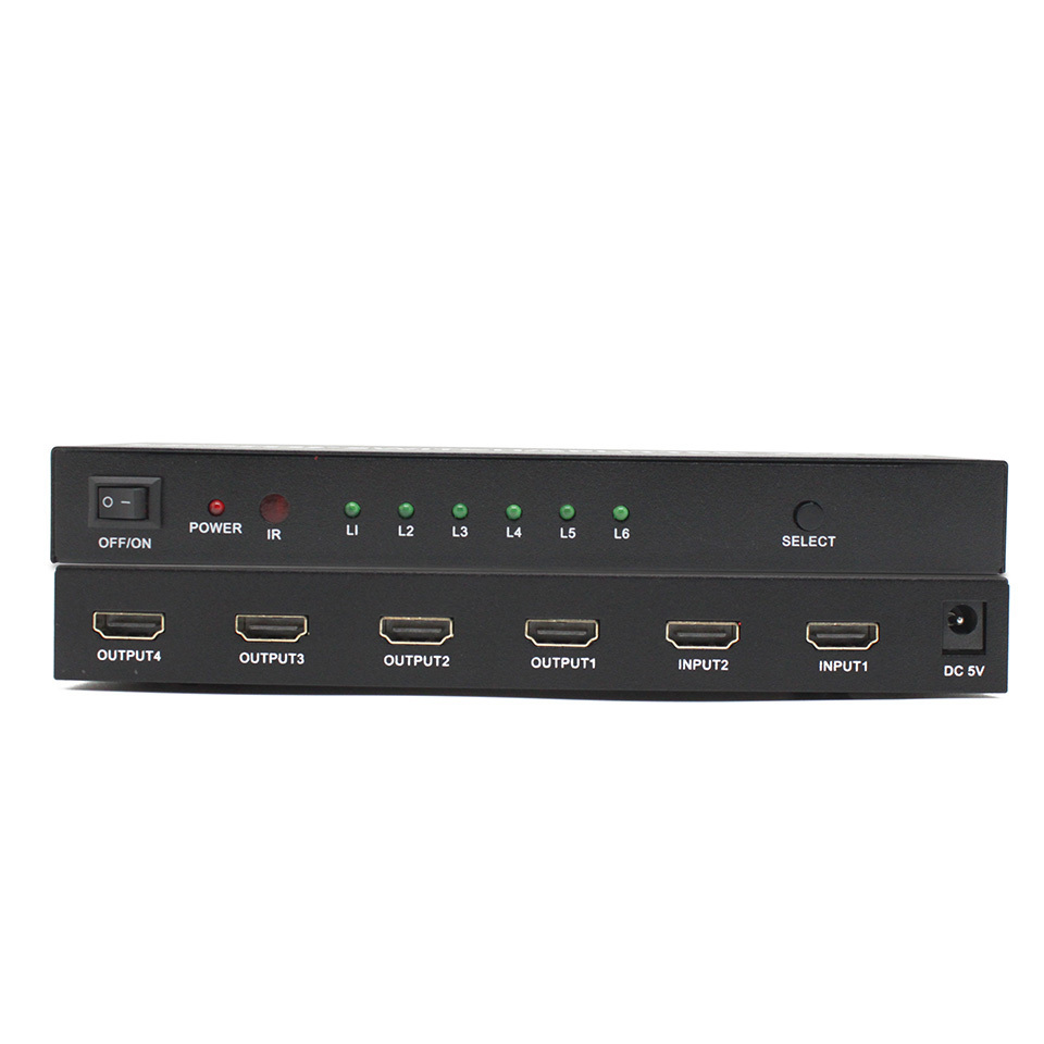 HDMI Switch Splitter Support  2 Computers Share 4 HDMI Devices  Supports HDMI  3D 1080p 4K X 2K
