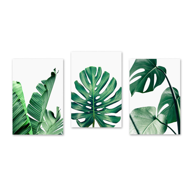 Tropical Leafs Canvas Painting