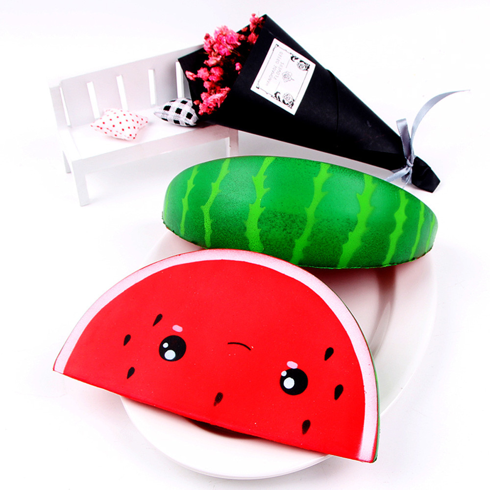 1pc Cute Soft Squishy Cute Smiley Watermelon Cream Squeeze Toy Slow Rising Decompression Toys    6.19