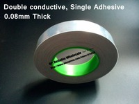 25mm 50M 0 085mm Thick Two Sides Conducting Single Glue Aluminum Foil Electrostatic Shielding Tape Fit