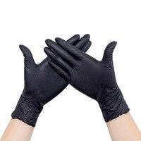 100/25 個使い捨てラテックス医療抗ウイルス手袋ユニバーサル清掃作業指手袋保護安全のため黒 ST04