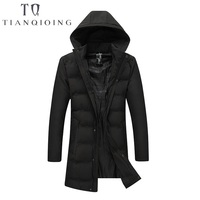 2018 Winter Men Down Jacket Parka Clothing Jackets Mens Long Section Coat Male Parkas Hooded Outwear Cotton padded Jacket