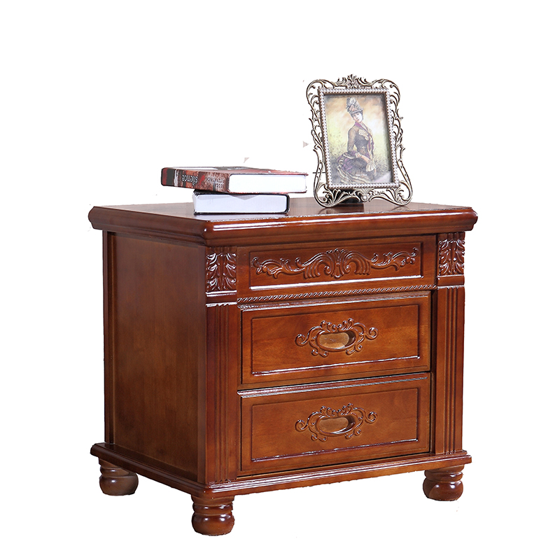 Bedside cabinet is simple, modern solid wood equipped with bedroom ...