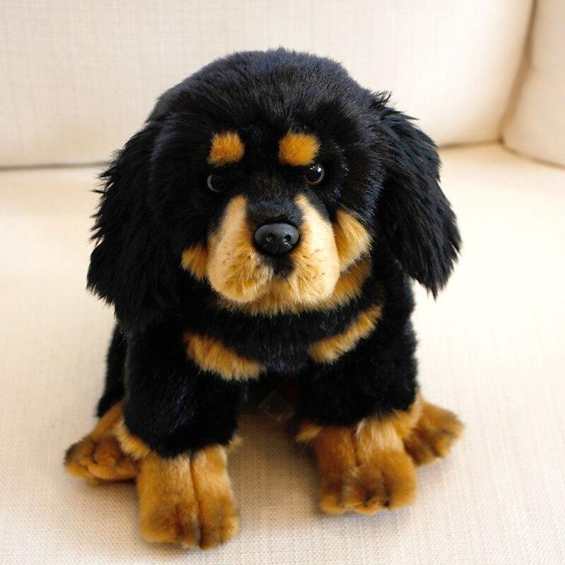 Dorimytrader Realistic Animal Tibetan Mastiff Plush Toy Mini Soft Pet Animals Dog Doll Kids and Adults Gift Deco 28x20x26cm