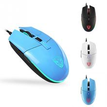Motospeed V50 Professional Portable 4000DPI 6 Keys USB Wired Gaming Mouse RGB Backlight Gamer Computer PC Mouse