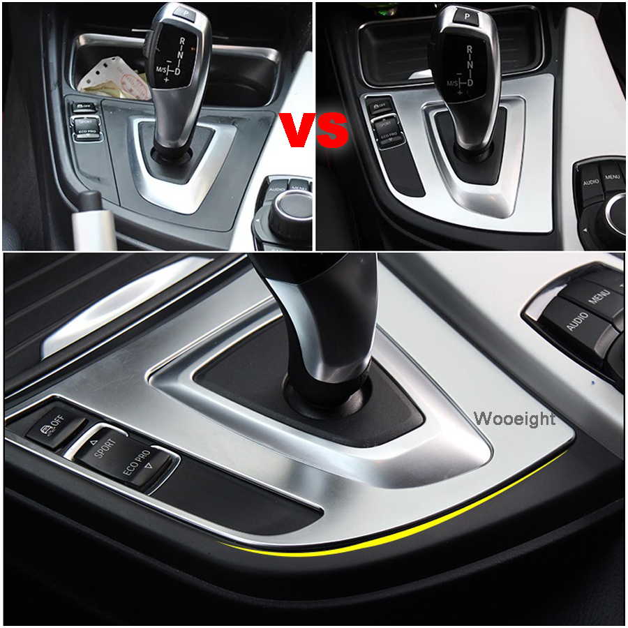 Silver Gear Shift Panel Trim For BMW 3 Series GT 2013 2018