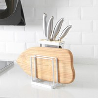 Kitchen Knife Cutting Board Cooking Tool Storage Rack Home Multi Function Cutter Plate Cutting Board Tool Iron Tool Holder