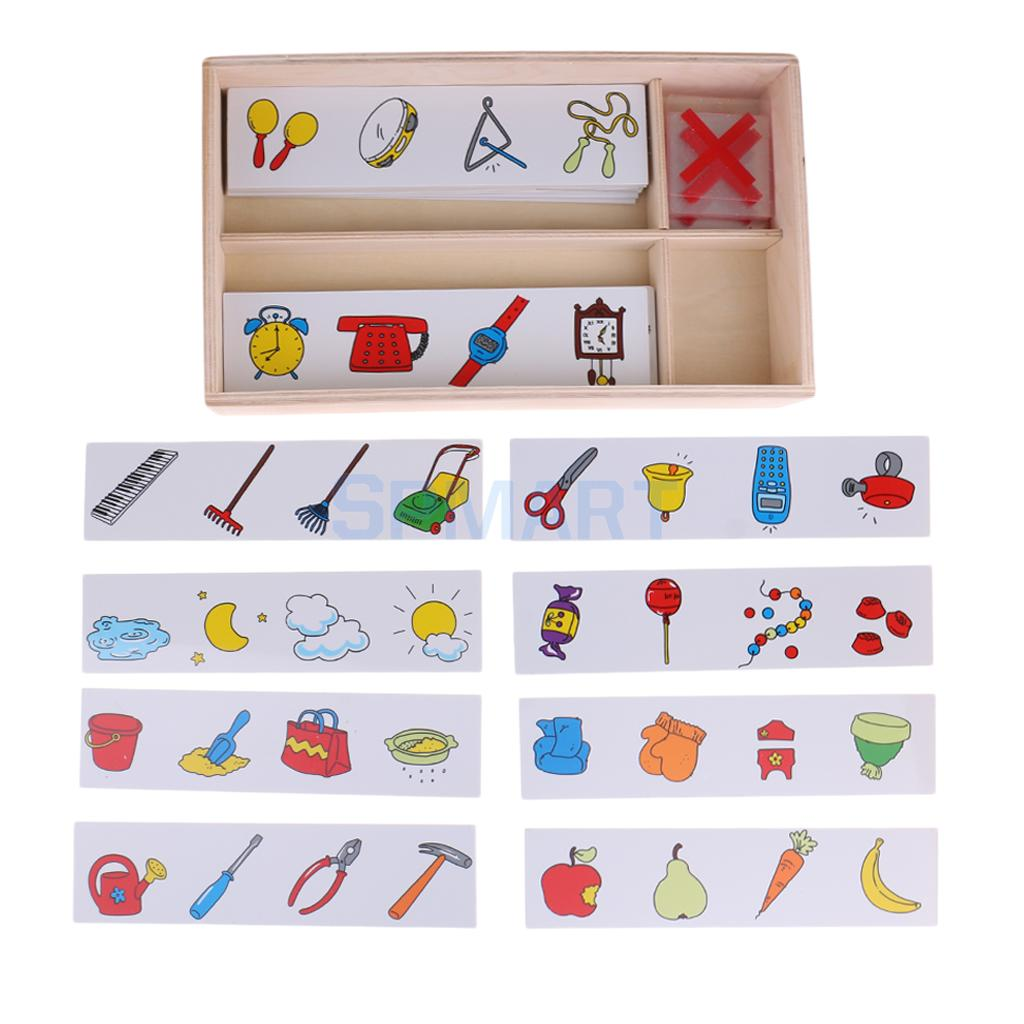 Kids Logical TRaining Cards Preschool Training Learning Educational Toys Search Wrong