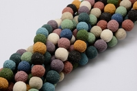 Pandahall 10 stands 12/14mm 15 Natural Lava Round Beads Strands Dyed Mixed Color For DIY Jewelry Finding Making Necklaces