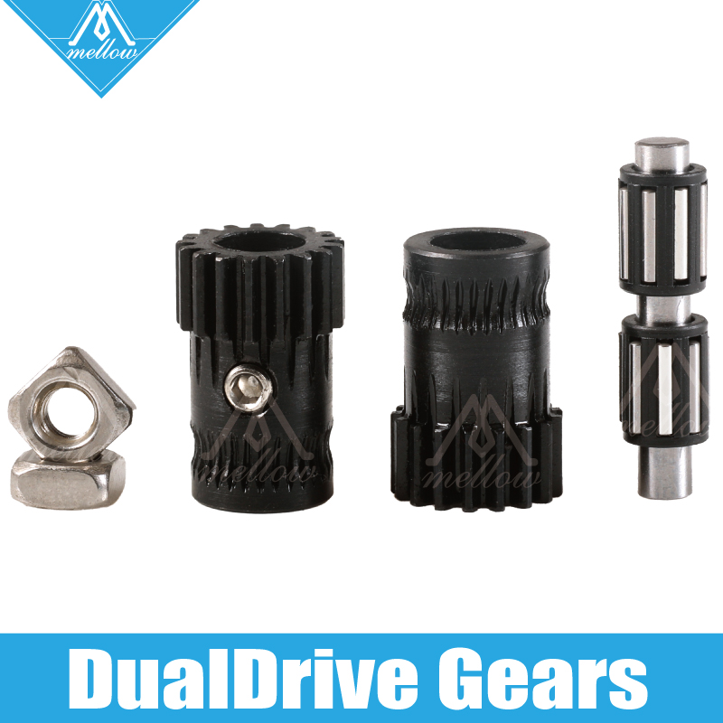 Mellow Upgrade Drivegear Kit Hardened Dual Drive Gear Extruder Kit Cloned Btech For Prusa I3 Mk3 3d Printer Mini Bowden Extruder