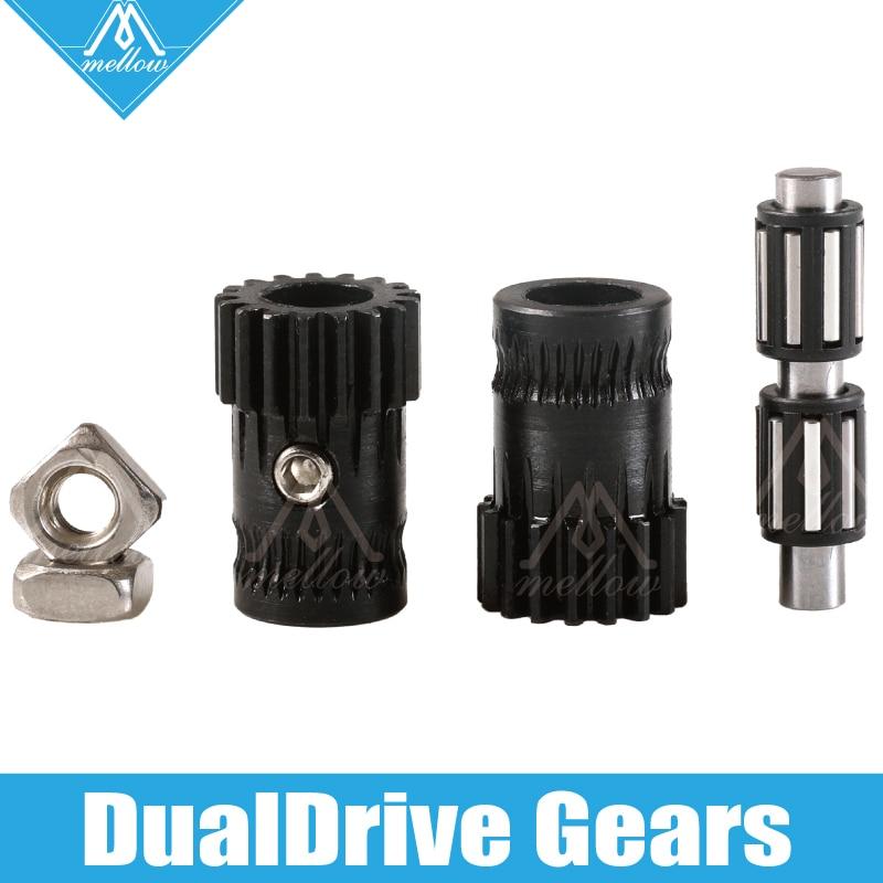 Mellow upgrade Drivegear kit Hardened dual font b drive b font gear extruder kit Cloned Btech