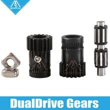 Mellow upgrade Drivegear комплект закаленный двойной привод шестерни экструдер комплект клонированный Btech для Prusa i3 mk3 3d принтер мини Боуден экструдер