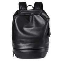 Good Quality Soft Leather Laptop Backpack Bag For Macbook Air 13 Inch Mens Black Leather Backpack
