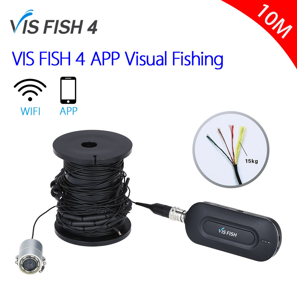 EYOYO VISFISH 4 Underwater Fishing Camera Fishfinder DVR Video Recorder Waterproof 90degree Ice Sea Boat Fishing For Android/Ios купить эхолот humminbird fishfinder 565
