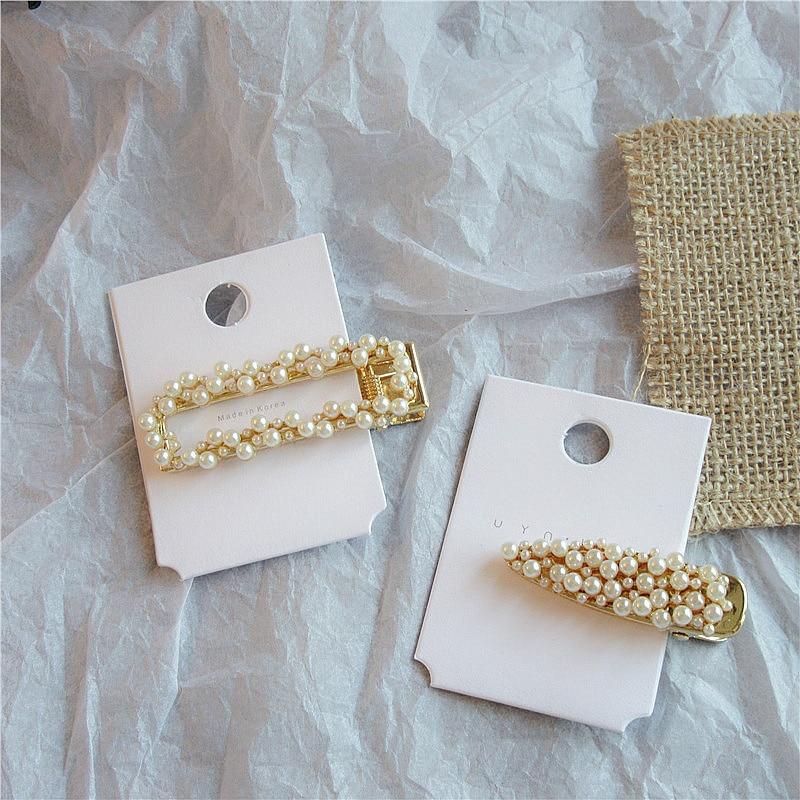 1 PCS Starfish Imitation Pearl Crystal Rhinestones Hair Clips Fashion Women Headwear Jewelry Hair Accessories Korea Style in Hair Clips Pins from Beauty Health