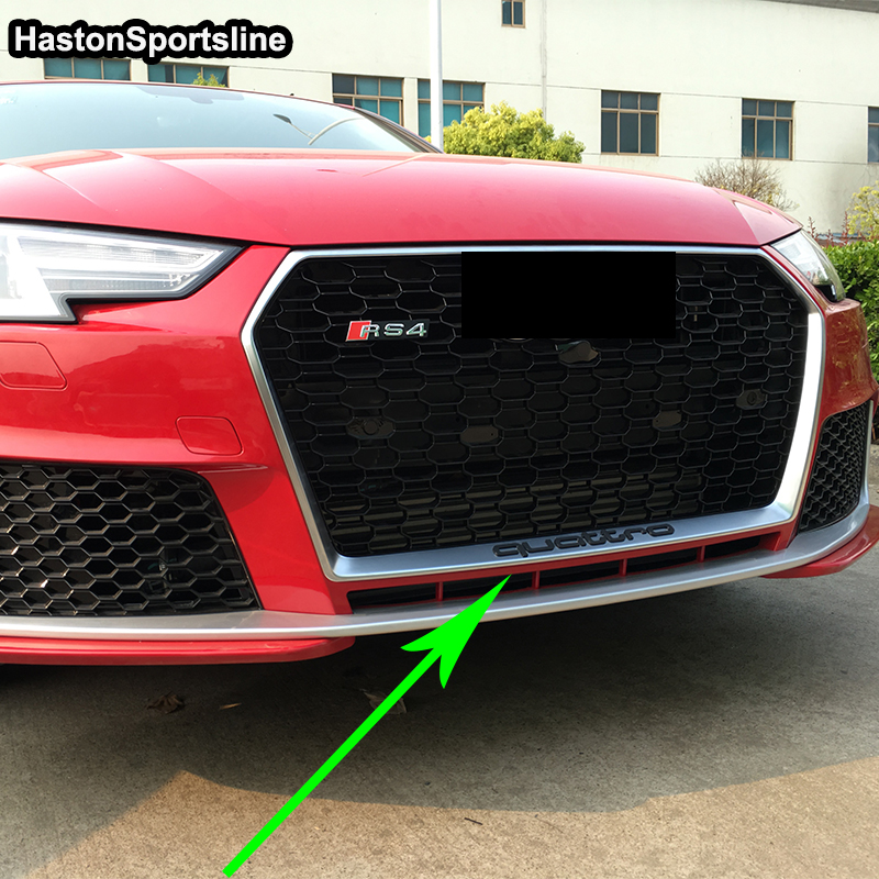 A4 B9 S Line Quattro Style Front Bumper Engine Grill Grids for Audi A4 B9 Sline 2016UP sport bumper Sline e2c free shipping new radiator engine cooling fan for audi a4 quattro a4 oe 8e0 959 455k 8e0959455k