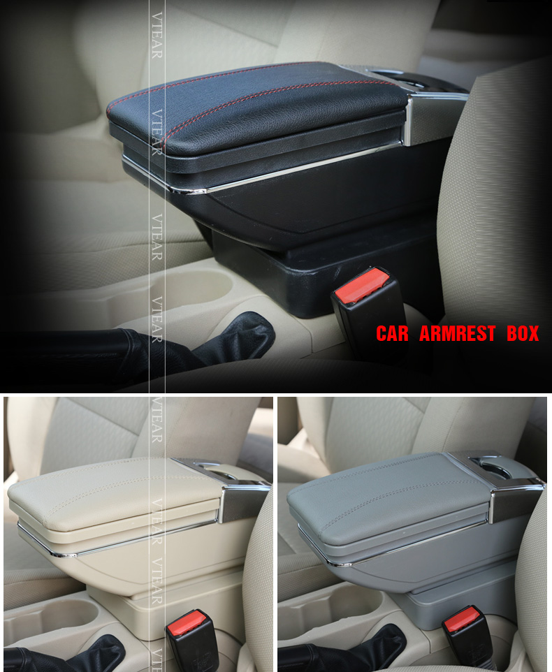 Vtear для Форд Фокус 2 подлокотник коробка центральный магазин коробка содержание продукты подлокотник хранения МК2 интерьер автомобиль укладки аксессуары запчасти