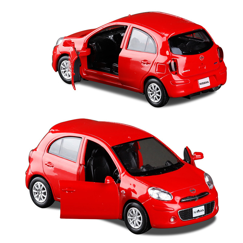 1:36 Scale Alloy Pull Back Car Model,High Simulation Nissa March Toy, Two Open Doors,gift Toy Model Cars,Free Shipping,wholesale