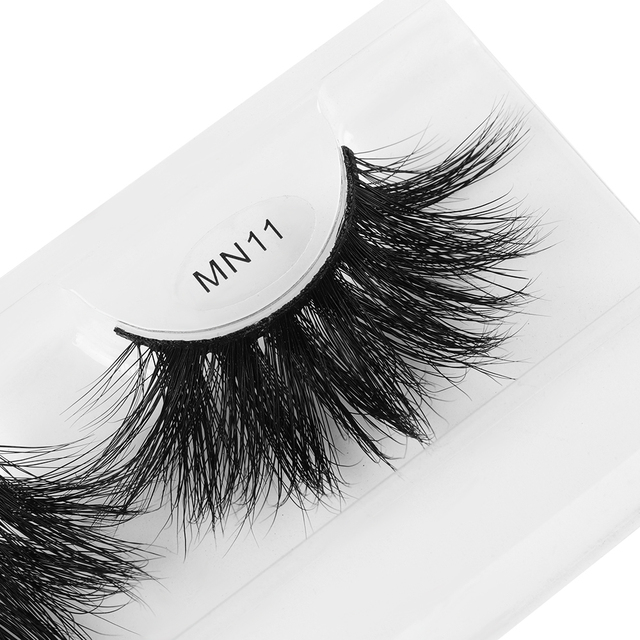1 Pair Extra Long 30MM Mink Lashes 3D False Eyelashes Wispy Multilayer Eyelashes Cruelty-free Handmade Natural Eyelash Makeup 5