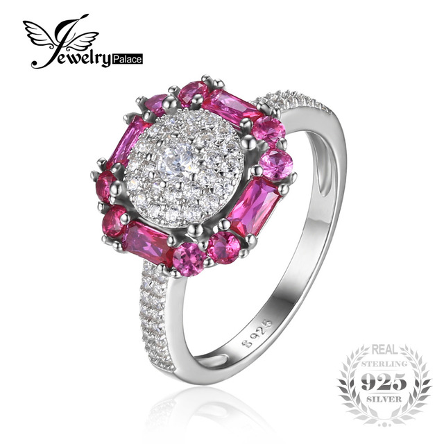 Fine Jewelry Womens Red Ruby Sterling Silver Cocktail Ring brpQ6DJK