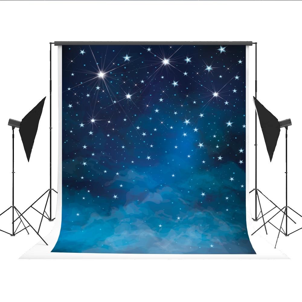 Star Light Background Blue Night Sky Photography Backdrops Photocall for Newborn Children Fond Studio Photos Kate 5x7ft blue sky чаша северный олень