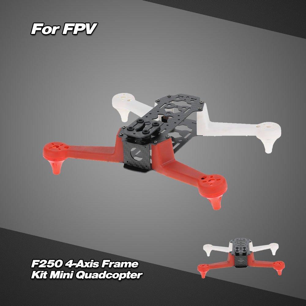 все цены на 2017 New Lipo Hsp Servo Hj2804-x1 280 Mm Fpv Quadcopter Spare Parts Frame Kit Better Than Qav250 For Cc3d Naze32 Carbon Fiber онлайн