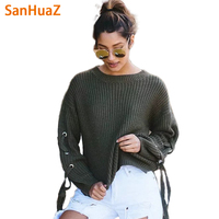 SanHuaZ Brand 2017 Autumn Winter Women S Sweaters Casual O Neck Long Sleeve Solid Knitted Women