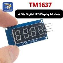 1 Uds. TM1637 4 Bits Módulo de pantalla LED Digital para arduino 7 segmentos 0,36 pulgadas reloj tubo de ánodo rojo cuatro controladores serie Paquete de placa