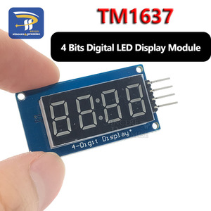 1pcs TM1637 4 Bits Digital LED Display Module For arduino 7 Segment 0.36Inch Clock RED Anode Tube Four Serial Driver Board Pack(China)
