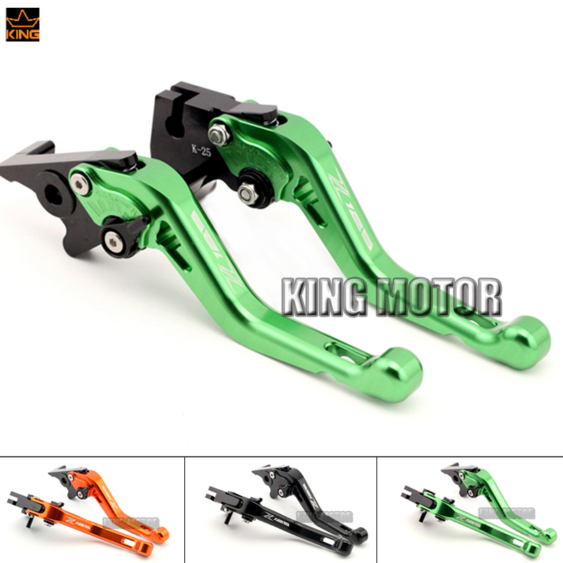 ФОТО For KAWASAKI Z 125 Z125 2016 Motorcycle Accessories CNC Aluminum Adjustable Short Brake Clutch Levers Green