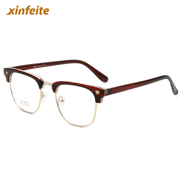 9cecdbc4fe4 New Fashion Classical TR90 Optical Frame Glasses Men Women Eyeglasses  Spectacles RX Half Rim 6 Color Available