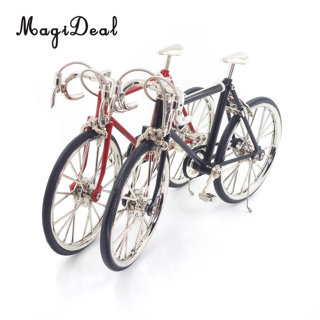 MagiDeal 1/10 Scale Alloy Bicycle Dollhouse Miniatures Furni
