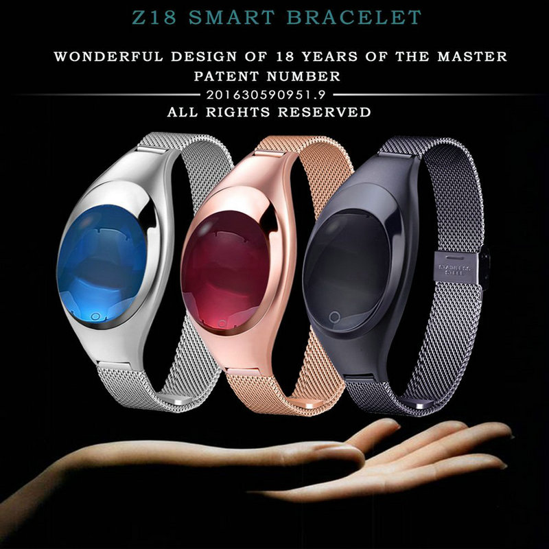 Z18 Red White Black Women Sport Bluetooth Smart Bracelet Fitness Pulsometer Heart Rate Monitor Smartband On Wrist ZIMINGU 17 21
