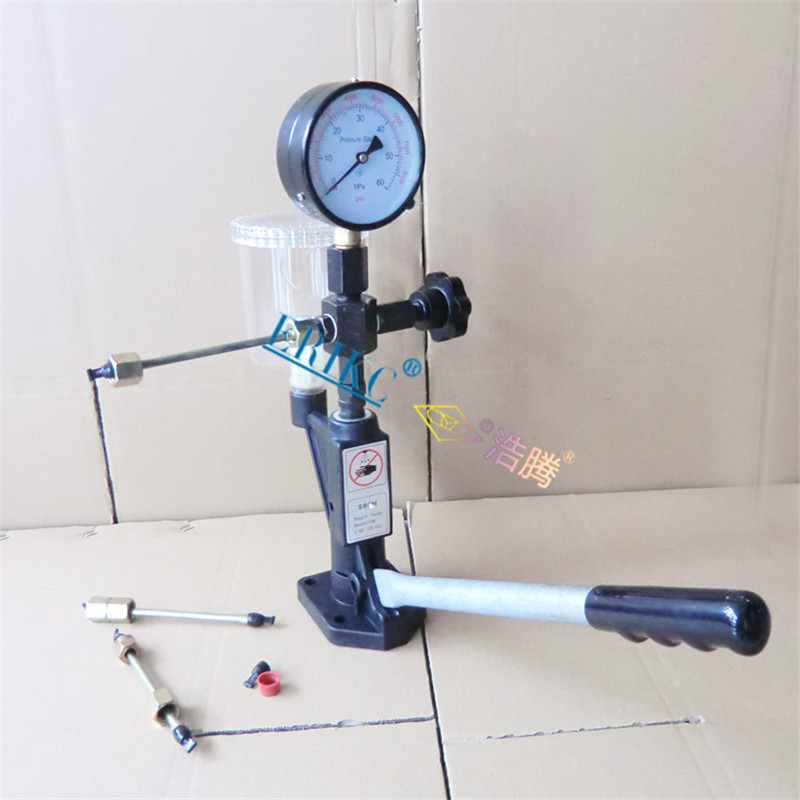 ERIKC Mechanical Injector and Common Rail Electronic Control Injector Nozzle Tester Diesel Injector Nozzle Pop Tester Calibrator