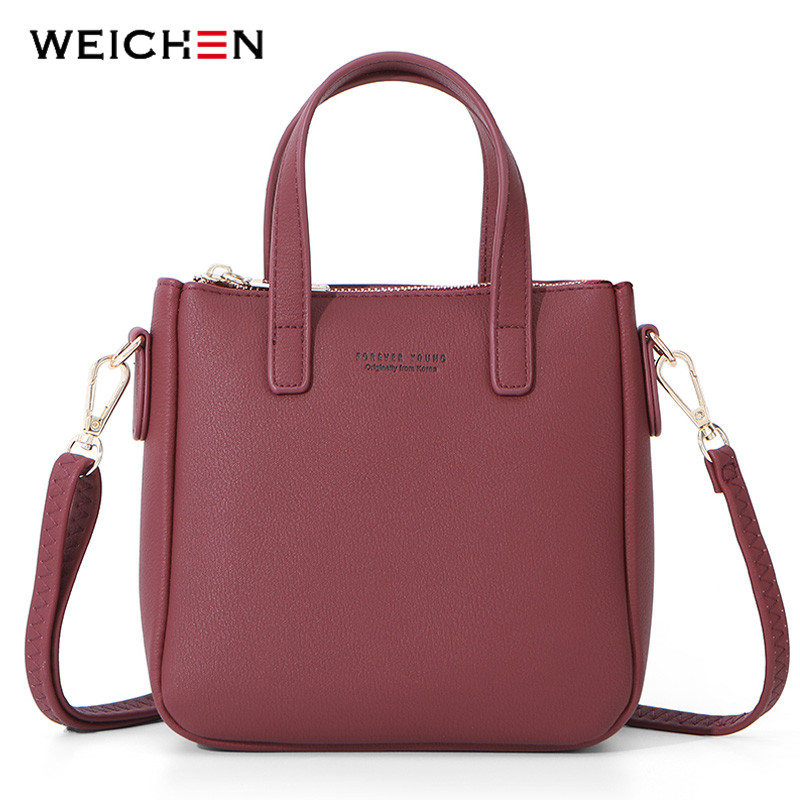 WEICHEN New Small Shoulder Bags Women Leather Ladies Crossbody Bag Messenger Mini Tote Bolsa Sac Purse Hnad Bag Female Handbag