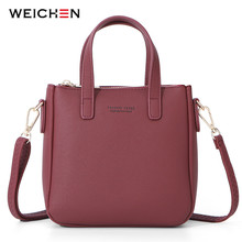 WEICHEN New Small Shoulder Bags Women Leather Ladies Crossbody Bag Messenger Mini Tote Bolsa Sac Purse Hnad Bag Female Handbag weichen new designer women shoulder bag purse leather women messenger bags female clutch crossbody bag for ladies bolsa feminina