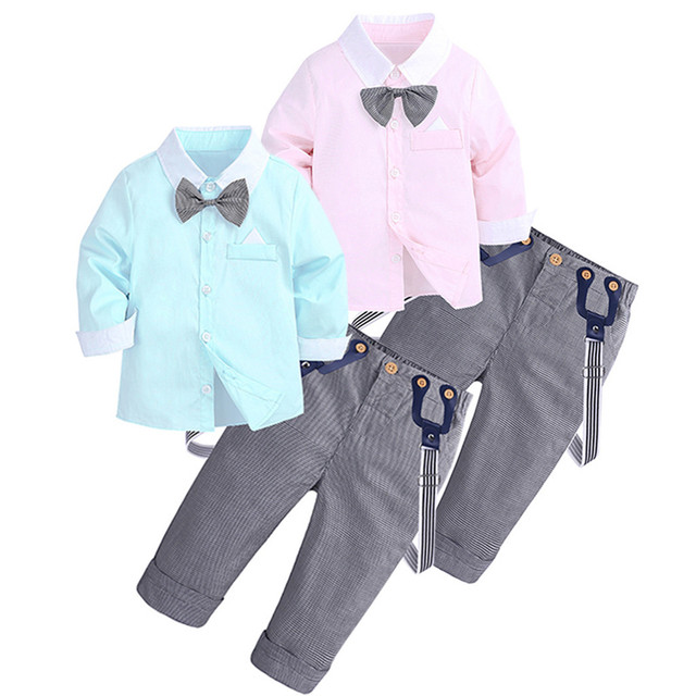 39a5bd763 Toddler Baby Kids Boys Gentleman Solid Top T-Shirt+Plaid Trousers Pants  Outfit ronaldo