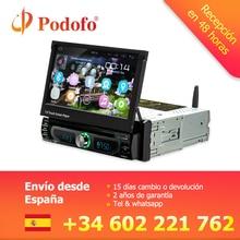 Podofo Android gps навигации CD/DVD мультимедийный плеер MP5 Autoadio 1 Din 7 «выдвижной сенсорный экран автомобиля Радио Bluetooth стерео