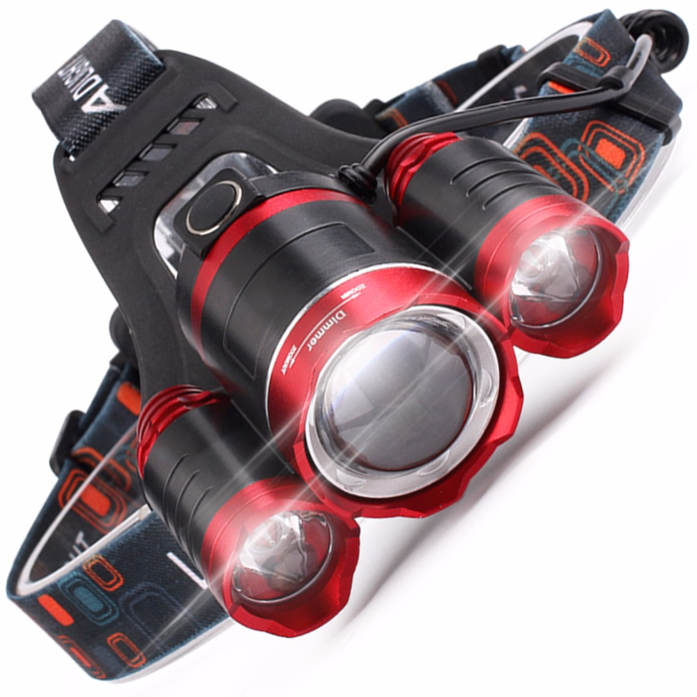 SKYFIRE Real 1800 Lumen heledam LED esilaterna veekindel esilaterna suumitav valguskiir 2 laetava 18650 akuga